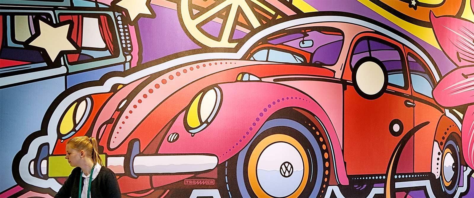 trommer volkswagen ausstellung automuseum wand