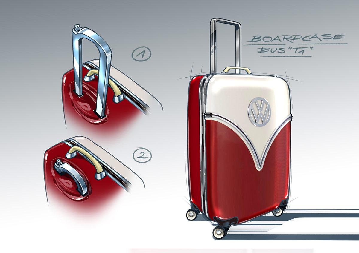 trommer volkswagen bolan trolley T1 design draft