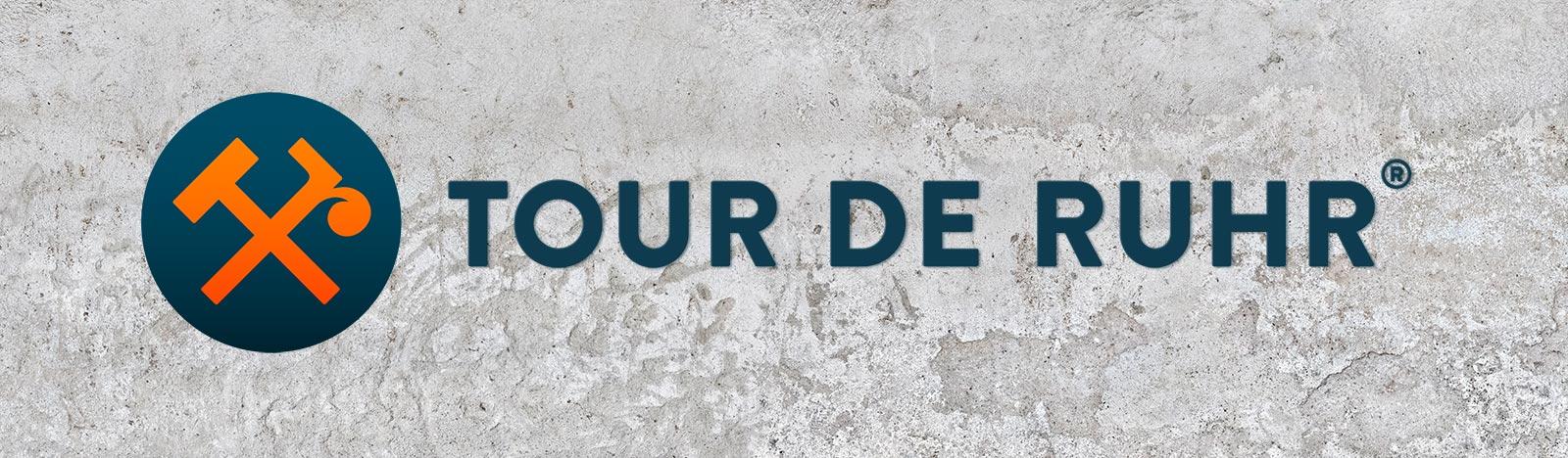trommer tour de ruhr logo wall 2021