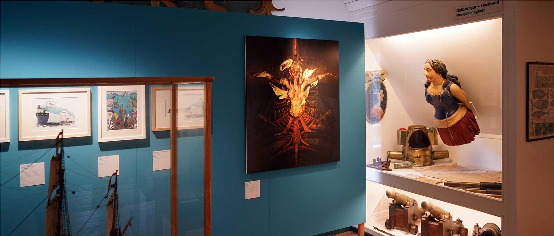 Moewen, Müll und Meerjungfrauen Exhibition Trommer Vanitas