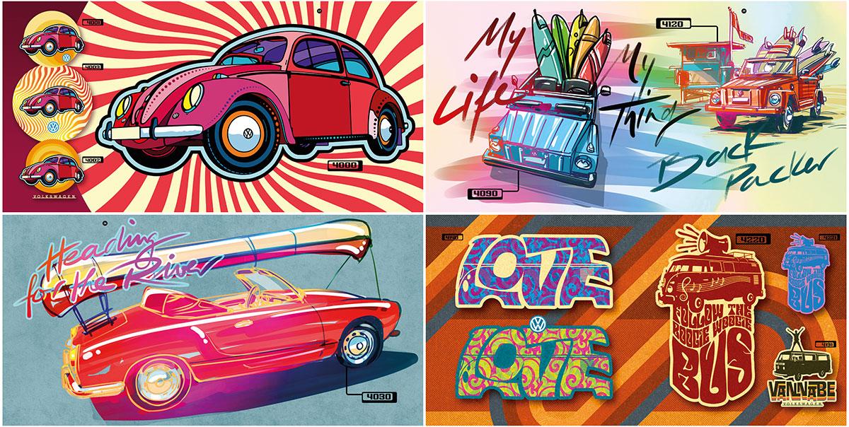 trommer volkswagen lookbook 4 illustration + design 4