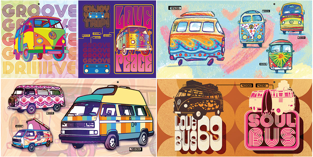 trommer volkswagen lookbook 4 illustration + design 5